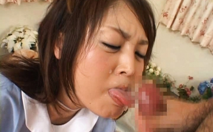 Raito Ayuhara Asian doll gets hard bukkake