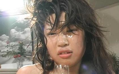 Miki Uehara Asian babe gets anal fucking and bukkake