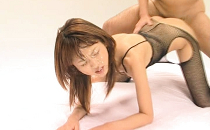 Asian babe Akira Shiratori has both tight holes filled with toys