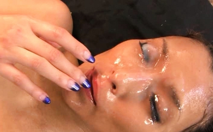 Friday Night Group bukkake fun for Asian babe Aya