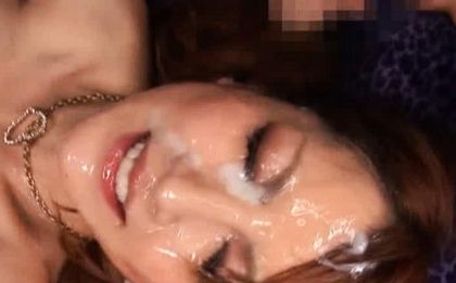 Hot Asian honey Kaede Matsushima surrounded by hard dicks