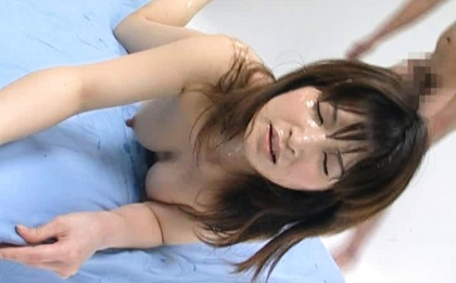 Ann Nanba Hot Japanese babe in hardcore bukkake