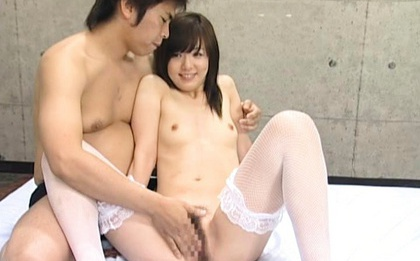 Ami Hanamiya Asian doll gets gangbang and bukkake