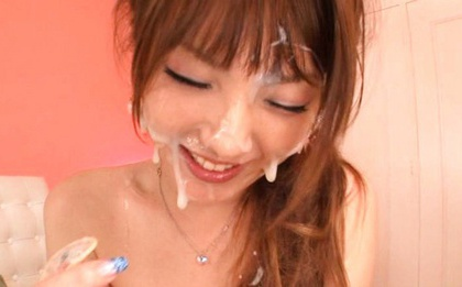 Tsubasa Amami gets covered in loads of cum!