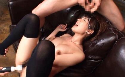 Tsubasa Amami gets ed by cumshots