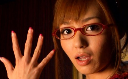 Aino Kishi Hot Asian babe gets a load of cum for a facial