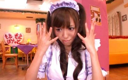 Four Guys Give Maid Aino Kishi The Bukkake She Wants
