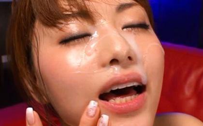Big Load Of Jizz Gets Milked On Akiho Yoshizawa´s Face