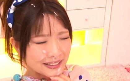 Clothed Teen Ruri Nanasawa Gives A Blowjob For A Facial