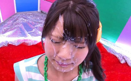 Ruri Nanasawa Earns A Facial For Her Great Cock Sucking