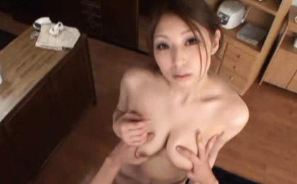 Sucking dick in a bukkake party gets Hina Akiyoshi a facial