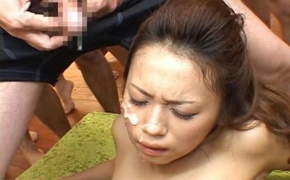 Misato Kanzaki Naughty Asian babe gets 50 man bukkake