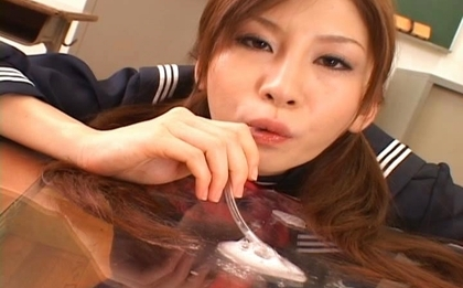 Rino Tomoa Asian student is into hot cummy blowjobs