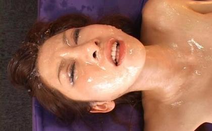 Rino Tomoa Naughty Asian model gets loads of hot sex and bukkake
