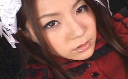 Rina Koizumi Japanese doll gets bukkake
