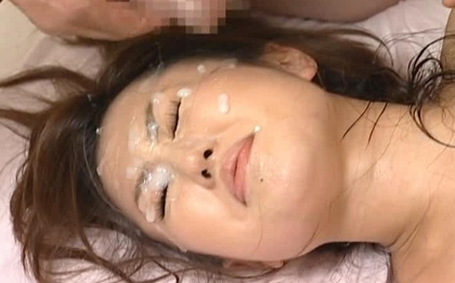 Rino Kamiya Naughty Asian model is having bukkake