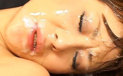 Naho Ozawa Naughty Asian model has her first bukkake