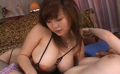 Nami Kimura and Miruku Asian lesbian action and bukkake fun