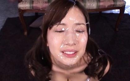 Crazy japanese bukkake