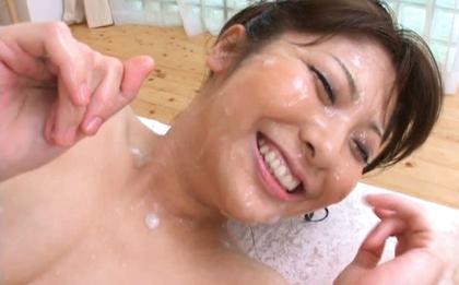 Harumi Asano Asian doll gets facial