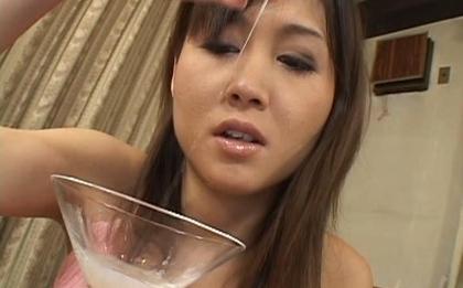 Moe Yoshikawa Asian chick gets some hot hard cock