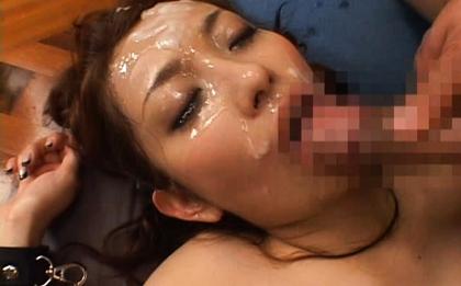 Nao Yoshizaki Sexy Asian doll enjoys fucking and bukkake