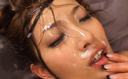 Nao Yoshizaki Sexy Asian doll enjoys fucking and bukkake